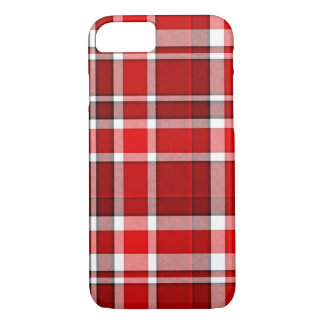 Roter weißer karierter Tartan iPhone 8/7 Hülle