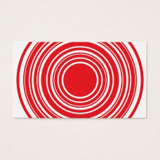 Roter weißer konzentrische visitenkarte