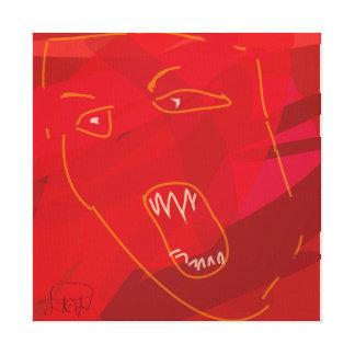 rotes abstraktes der Raserei Leinwand Drucke