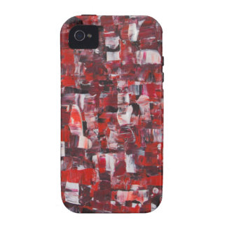 Rotes abstraktes vibe iPhone 4 cover