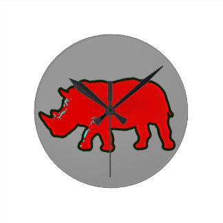 rotes Afrika rhinocerus Uhr