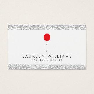 Rotes Ballon-Logo für Ereignis-Planer, Visitenkarten