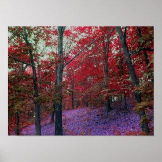 Rotes Baum-Waldplakat Poster