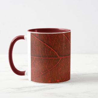 Rotes Blatt Tasse
