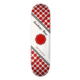 Rotes Blumen-Band byh Kenneth Yoncich Skateboard Brett