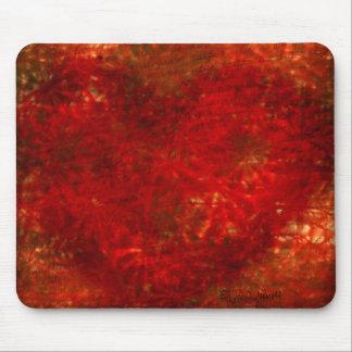 Rotes Blumen-Herz Mousepad