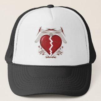 Rotes defektes Herz u. Stammes- Muster - Truckerkappe