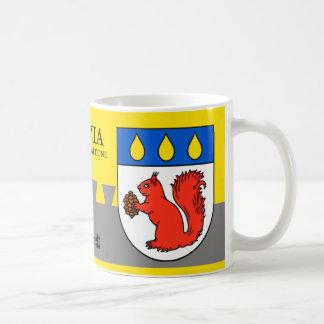 Rotes Eichhörnchen-Schild von Baldone, Lettland Kaffeetasse