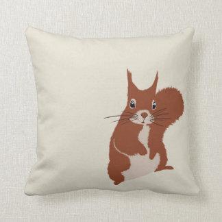 Rotes Eichhörnchen-Winter-Schnee-Tierkissen Zierkissen