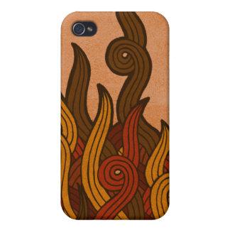 Rotes Feuer iPhone 4 Schutzhülle