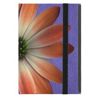 Rotes Gänseblümchen auf korallenrotem ledernem Etui Fürs iPad Mini