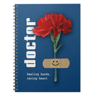 Rotes Gartennelken-Entwurfs-Geschenk-Notizbuch für Notizblock