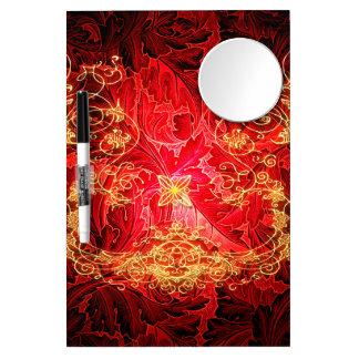 Rotes, gelbes Blumenmuster Memo Board