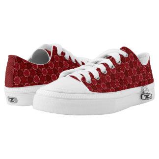 Rotes Gemisch Niedrig-geschnittene Sneaker