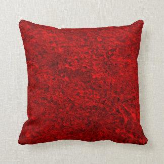 Rotes Gras-Muster Kissen