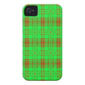 rotes grünes modernes kariertes Muster Case-Mate iPhone 4 Hüllen