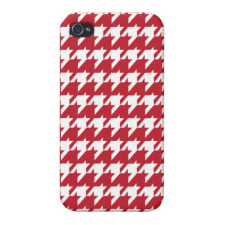 Rotes Hahnentrittmuster iPhone 4 Case