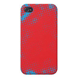 Rotes Halbtonblau iPhone 4 Cover