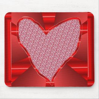 rotes Herz Mauspads