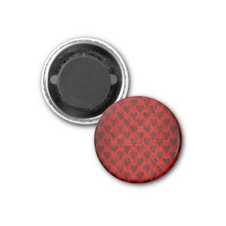 Rotes Herz-runder Magnet Runder Magnet 3,2 Cm