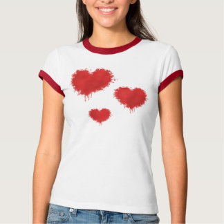 Rotes Herz-T-Stück T-Shirt