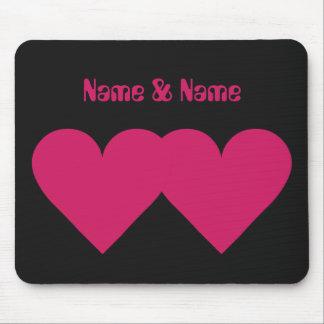 Rotes Herz-Valentinsgrußgewohnheit mousepad