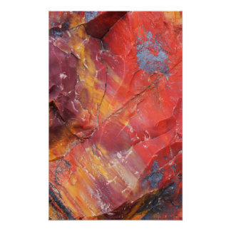 Rotes Holzdetail, Arizona Poster