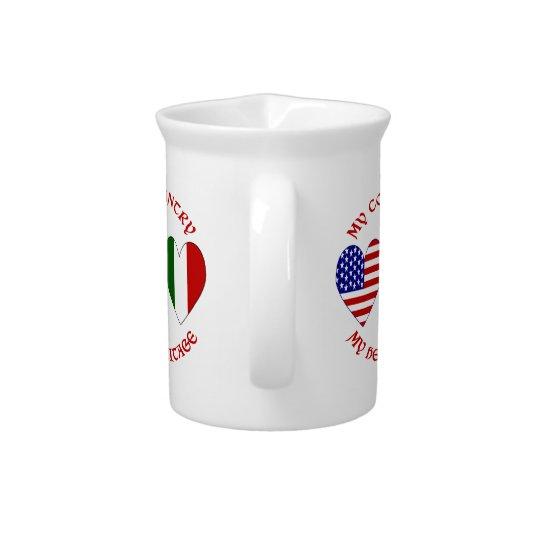 Rotes Italiener USA-Land-Erbe Krug