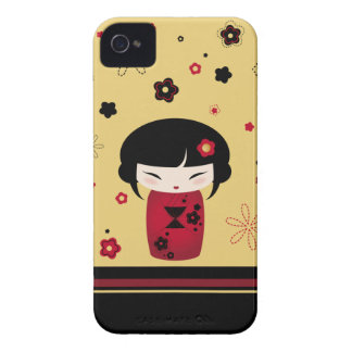 Rotes Kokeshi Case-Mate iPhone 4 Hülle