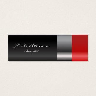Rotes Lippenstiftmake-up Mini-Visitenkarten