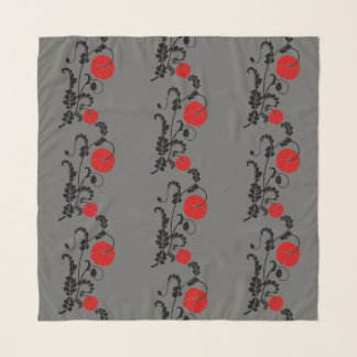 Rotes Mohnblumen-Muster Schal