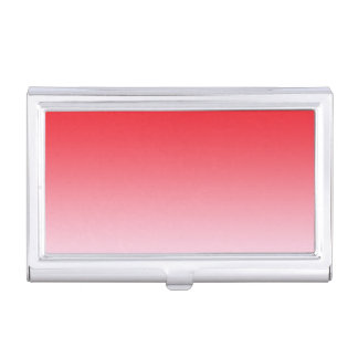 Rotes Ombre Visitenkarten-Behälter