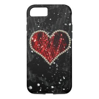 Rotes Perlen-Herz iPhone 8/7 Hülle