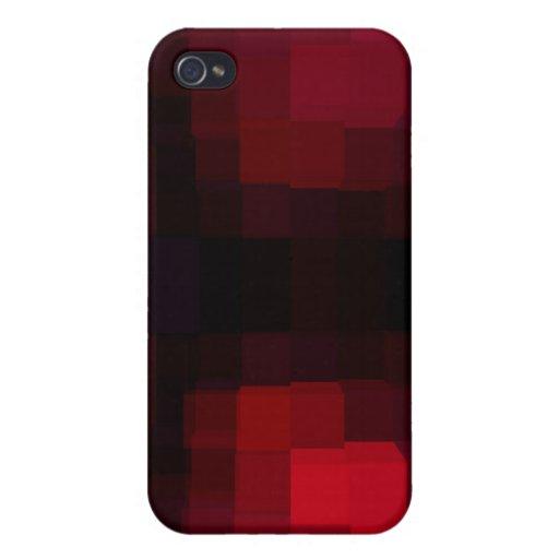 Rotes Pixelated iPhone 4 Schutzhülle