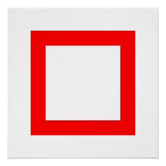 Rotes Quadrat 2 Poster