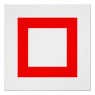 Rotes Quadrat 3 Poster