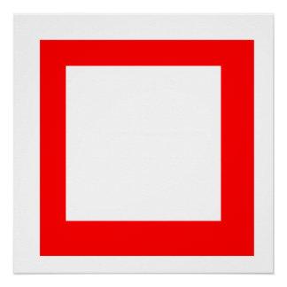 Rotes Quadrat Poster