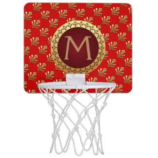 Rotes römisches Monogramm Mini Basketball Ring
