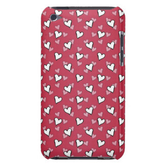 Rotes rosa weißes Herz-Muster iPod Case-Mate Case