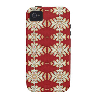 Rotes SahneUreinwohner-Art-Muster iPhone 4/4S Cover