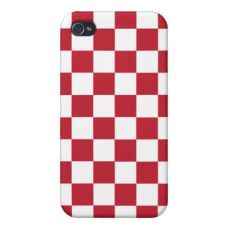 Rotes Schachbrett iPhone 4 Etui
