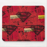 Rotes Schild-Muster Mousepad