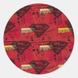 Rotes Schild-Muster Runder Aufkleber
