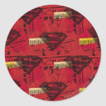 Rotes Schild-Muster Sticker