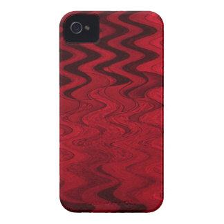 rotes schwarzes abstraktes Case-Mate iPhone 4 hüllen