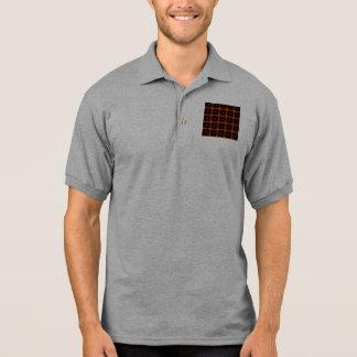 Rotes schwarzes Gelb Polo-Hemd-des Retro Polo Shirt