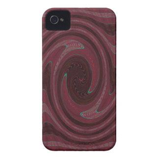 rotes schwarzes kreisförmigesabstraktes iPhone 4 hüllen