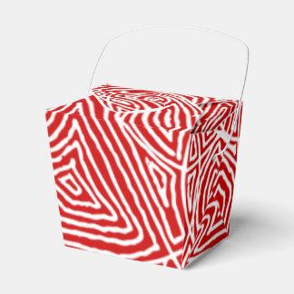Rotes Scribbleprints Muster Geschenkschachtel