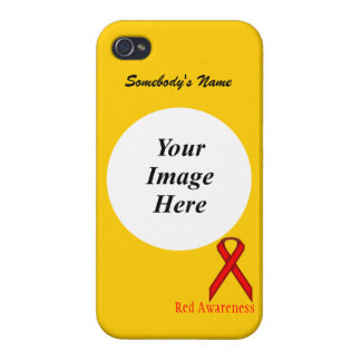 Rotes Standardband durch Kenneth Yoncich iPhone 4 Cover