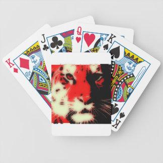 Rotes Tiger-Gesicht Spielkarten